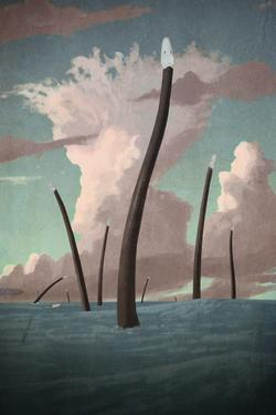 palaeo, painting, all_yesterdays, plesiosaurs, speculative