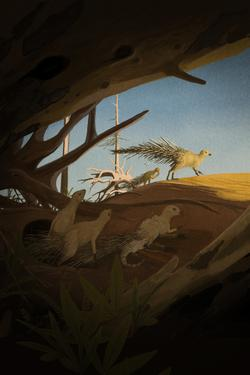palaeo, painting, all_yesterdays, dinosaurs, speculative