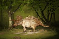 palaeo, painting, all yesterdays, all_yesterdays, dinosaurs, triceratops, north america, speculative