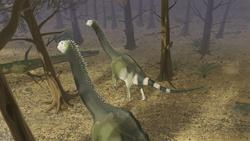 palaeo, painting, dinosaurs, sauropods, jurassic, forest, naturalistic