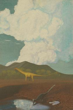 palaeo, dinosaurs, painting, jurassic, morrisson, sauropods, theropods