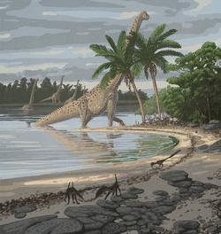 palaeo, painting, dinosaurs, sauropods, south america, cretaceous, ely kish