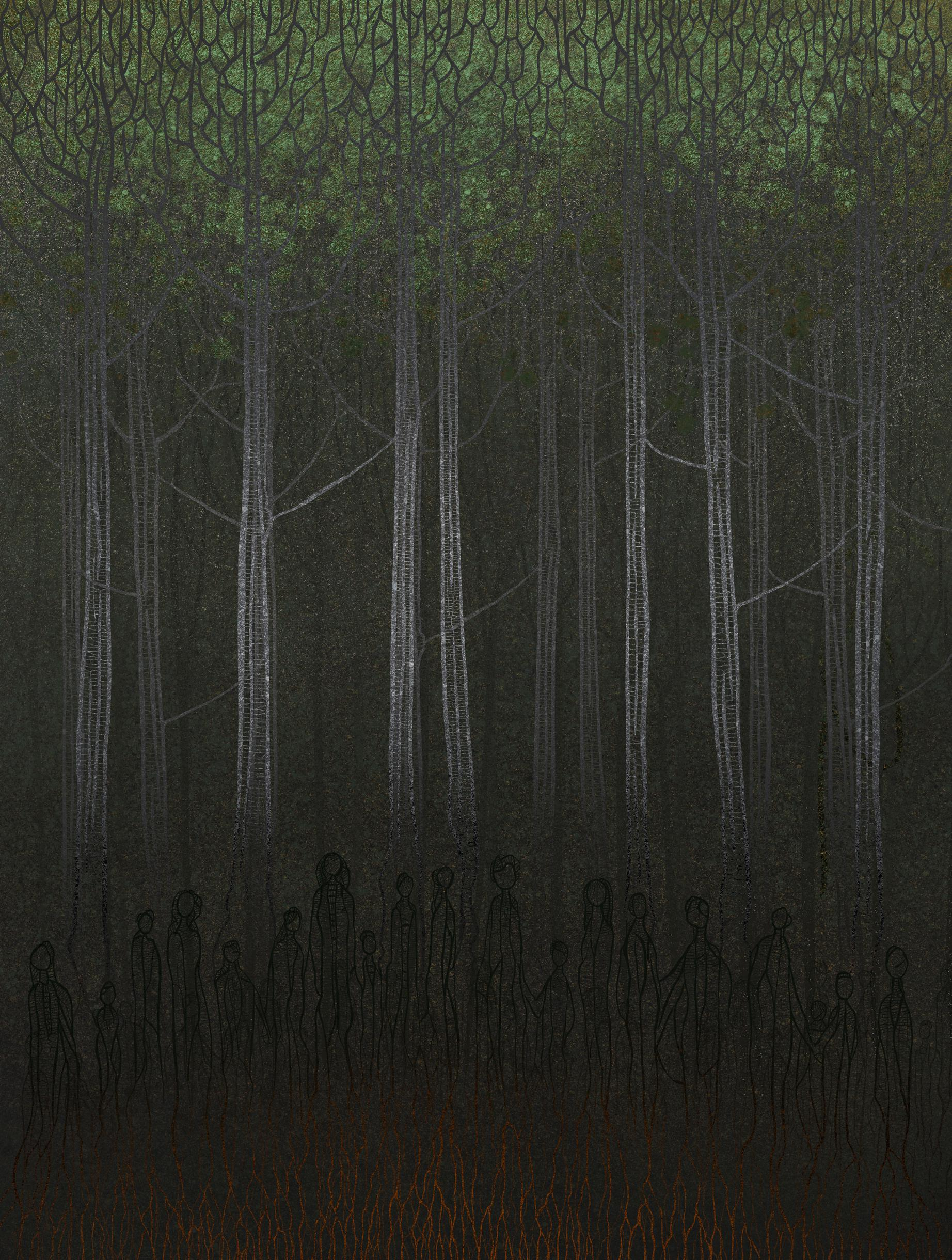 holocaust, ww2, world war II, paintings, forests, sacred minimalism