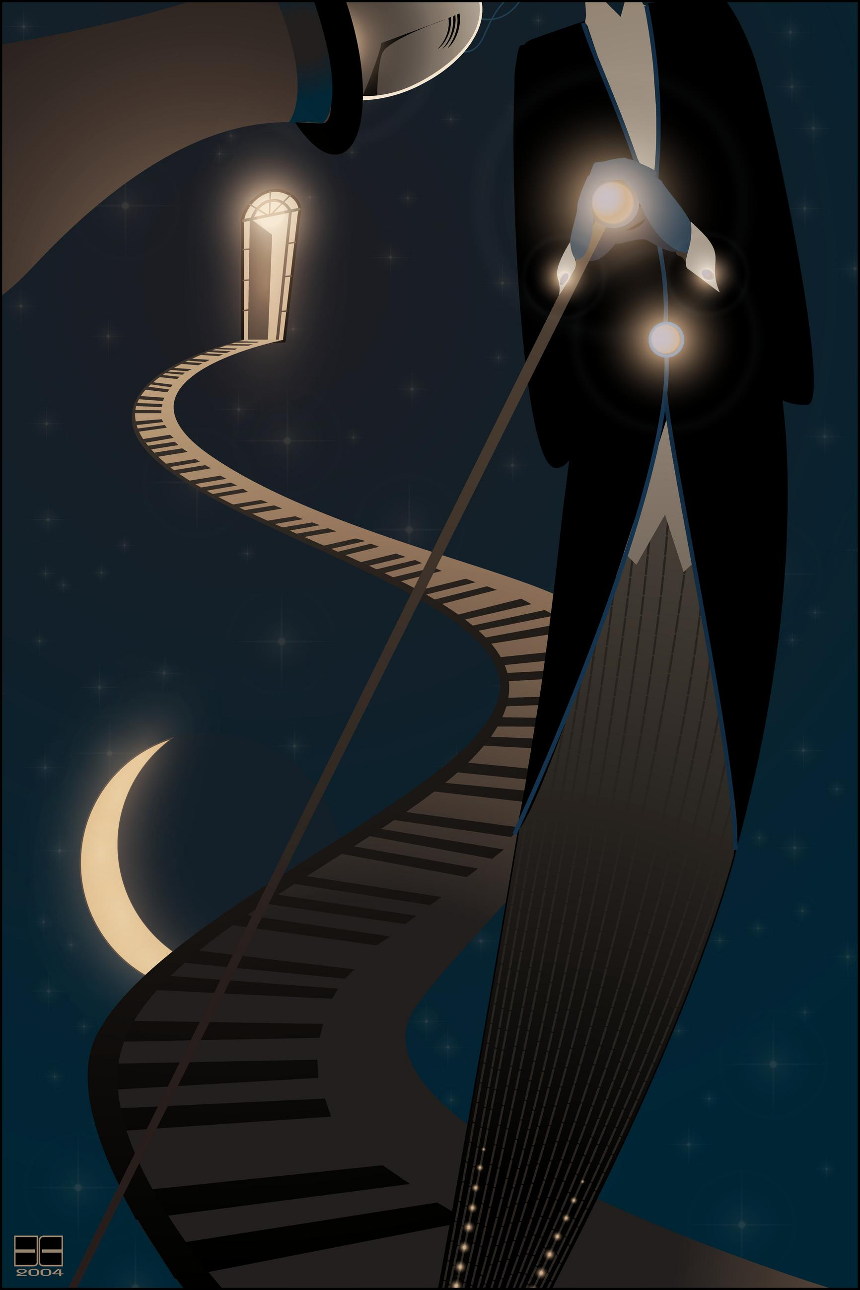 swing me to the stars, vector, jazz, art deco